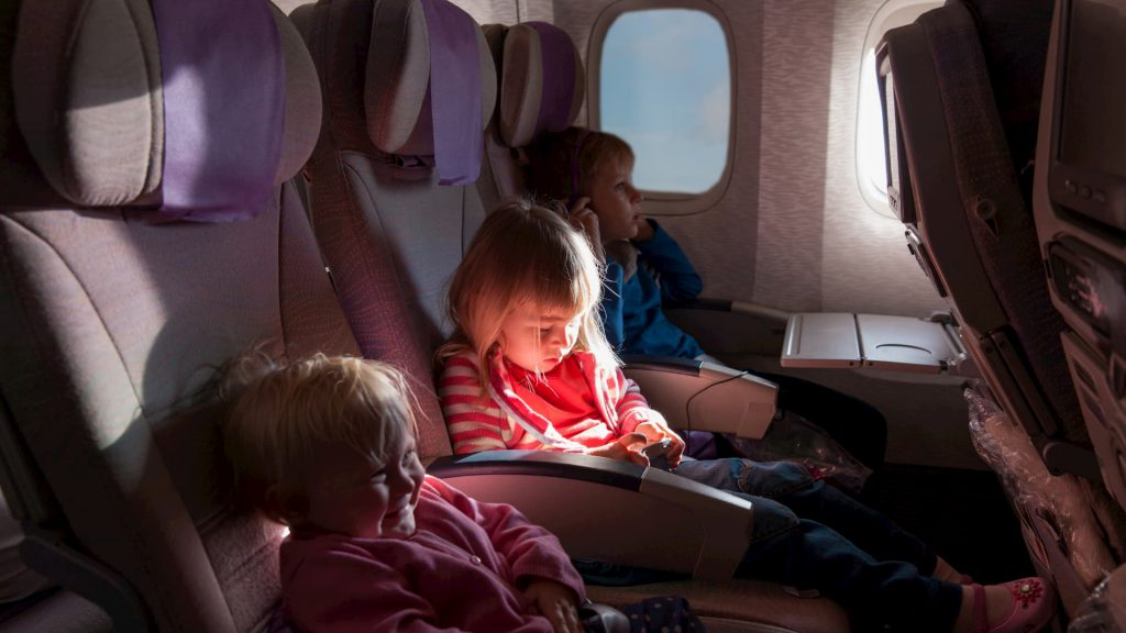 Flying with children